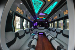 Party Buses - A-List Limousine - diamond-international-interior