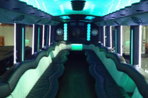 Party Buses - A-List Limousine - freightliner-interior