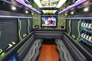 Party Buses - A-List Limousine - jewel-ford-f450-interior