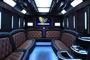 Party Buses - A-List Limousine - medusa-ford-f450-interior