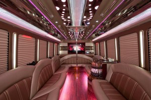 Party Buses - A-List Limousine - parada-ford-f450-interior