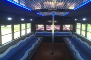 Party Buses - A-List Limousine - pearl-international-3800-interior