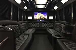 Party Buses - A-List Limousine - zues-f450-interior